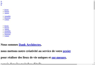 Site internet de Dank Architectes