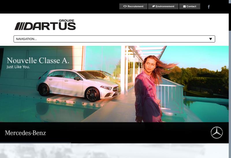 Capture d'écran du site de Garage Dartus
