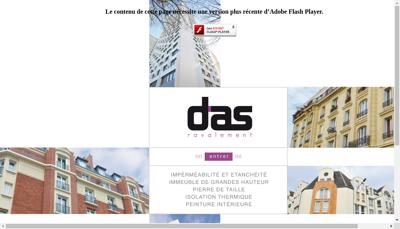 Capture d'écran du site de Das Ravalement