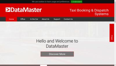 Capture d'écran du site de Datamaster