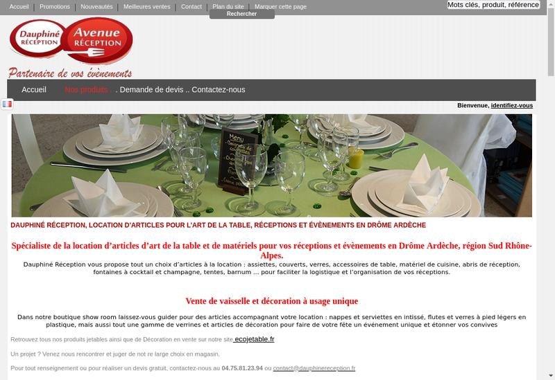 Capture d'écran du site de Avrec
