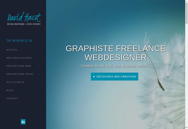 Capture d'écran du site de David Hacot Design Graphique