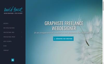 Site internet de David Hacot Design Graphique