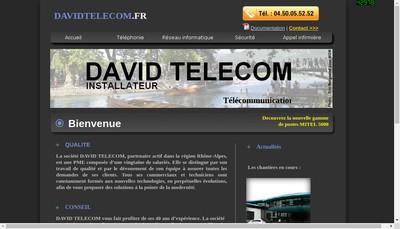 Site internet de David Telecom