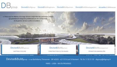 Site internet de Devise&Build Ingenierie