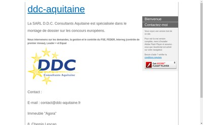 Site internet de DDC Consultants Aquitaine