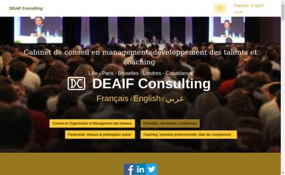 Site internet de Deaif Consulting
