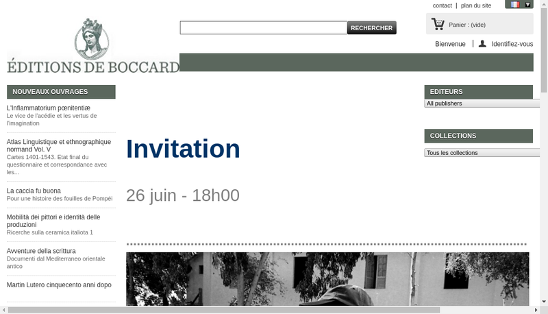 Capture d'écran du site de Edition Diffusion de Boccard