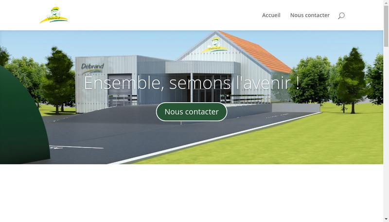Capture d'écran du site de SARL Debrand