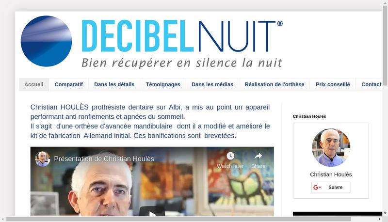 Capture d'écran du site de Decibelnuit