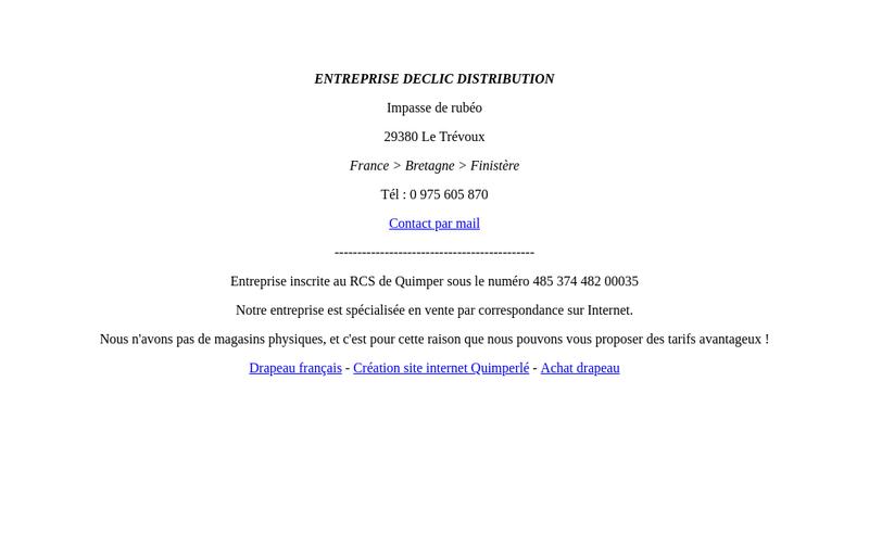 Capture d'écran du site de Declic Distribution