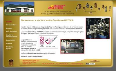 Site internet de Decolletage Mottier