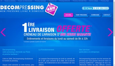 Site internet de Pressing One SARL