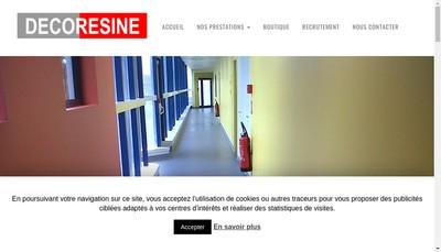 Site internet de Decoresine