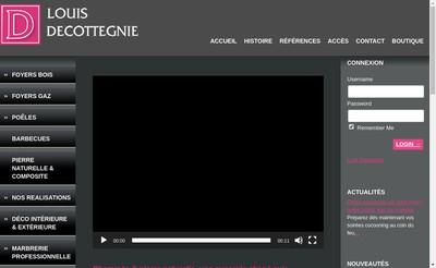 Site internet de Cheminees Marbrerie Decottegnie
