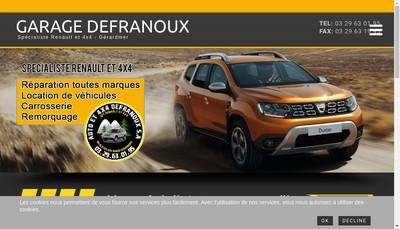 Site internet de Garage Defranoux