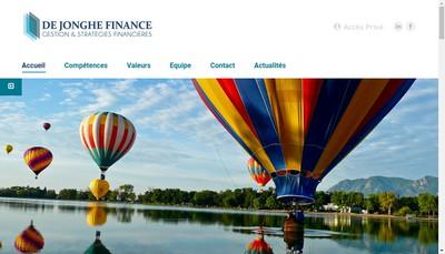 Site internet de De Jonghe Finance