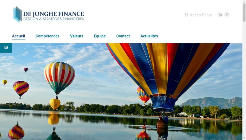 Capture d'écran du site de De Jonghe Finance