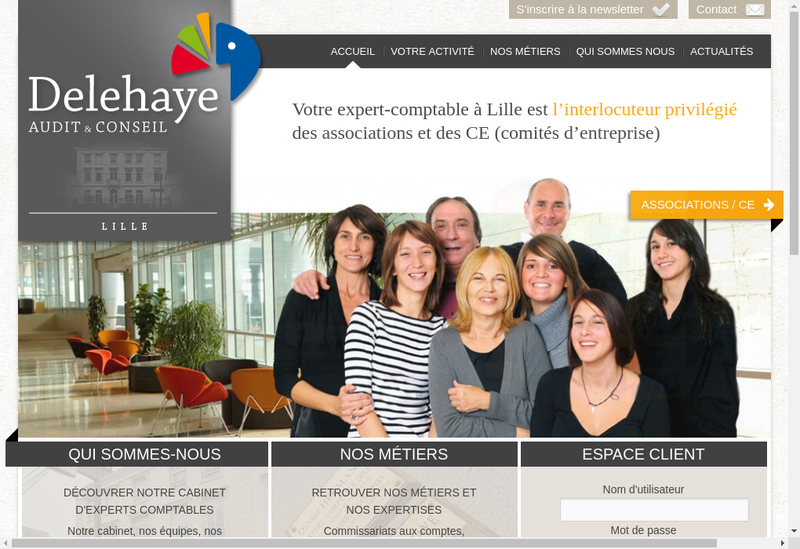 Capture d'écran du site de Delehaye Audit & Conseil