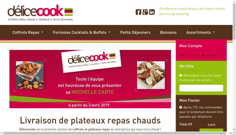 Capture d'écran du site de Delicecook