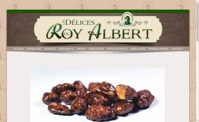 Site internet de Les Delices du Roy Albert
