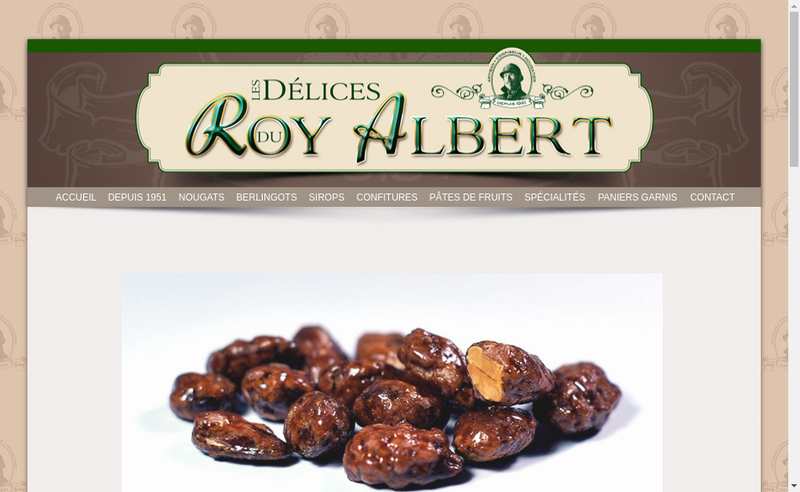 Capture d'écran du site de Les Delices du Roy Albert