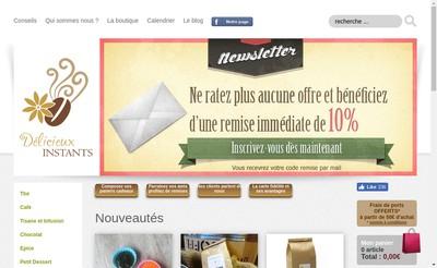 Site internet de Delicieux Instants