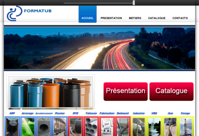 Capture d'écran du site de SARL Delta Etancheite