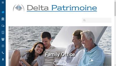 Site internet de Delta Invest