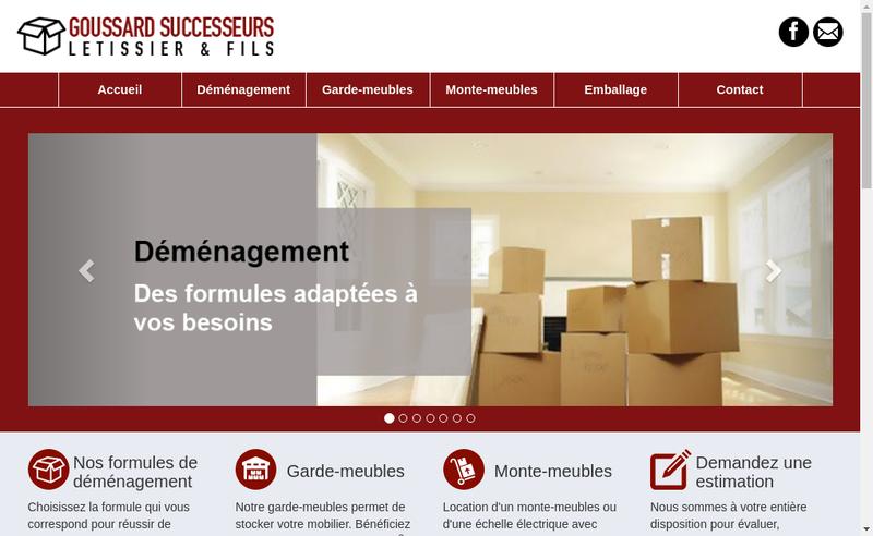 Capture d'écran du site de Demenagements Goussard Successeurs