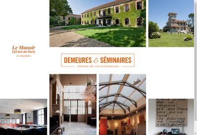 Site internet de Demeures & Seminaires