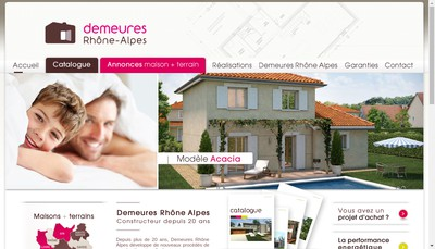 Site internet de Demeures Rhone Alpes