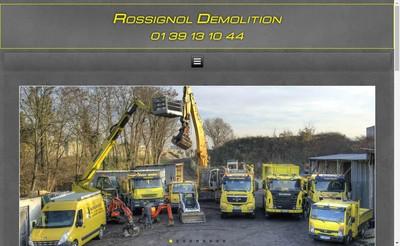 Site internet de Rossignol Demolition