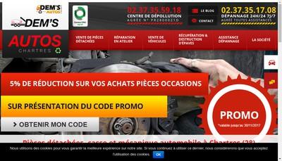Site internet de Dem S Autos Chartres