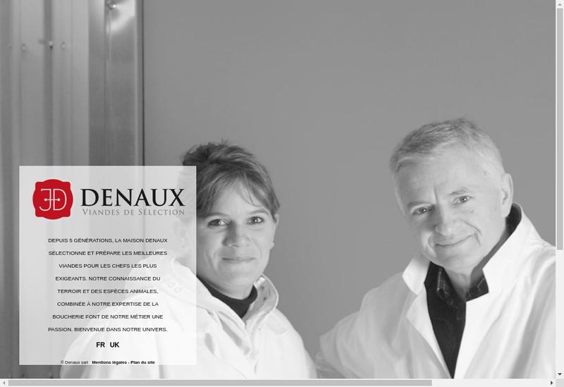 Capture d'écran du site de Denaux