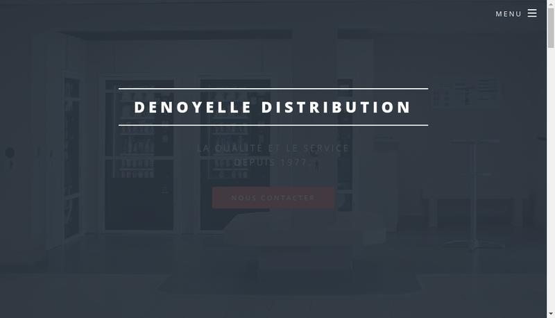 Capture d'écran du site de Denoyelle Distribution