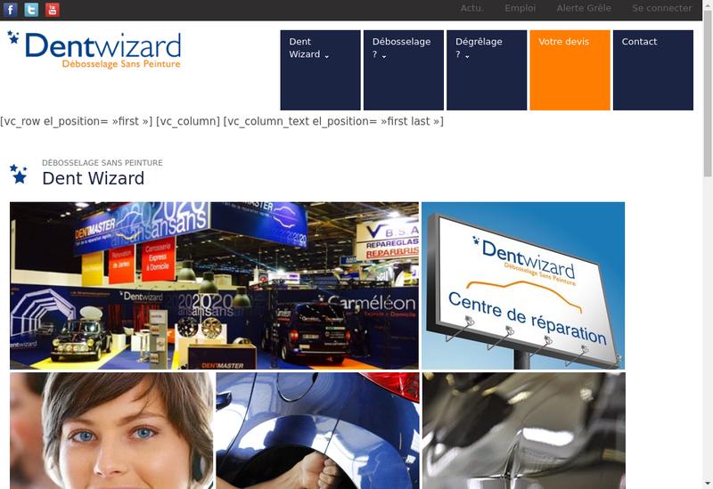 Capture d'écran du site de Dentmaster