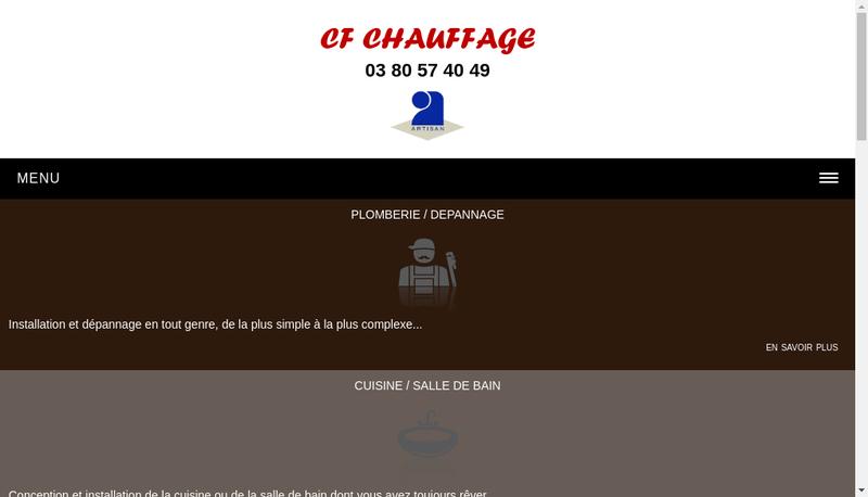 Capture d'écran du site de Cf Chauffage
