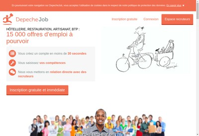 Site internet de Depeche Job