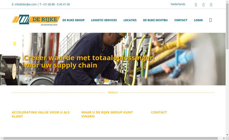 Capture d'écran du site de De Rijke Picardie