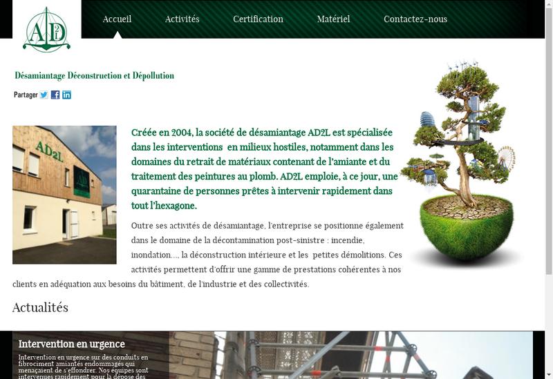 Capture d'écran du site de AD2L