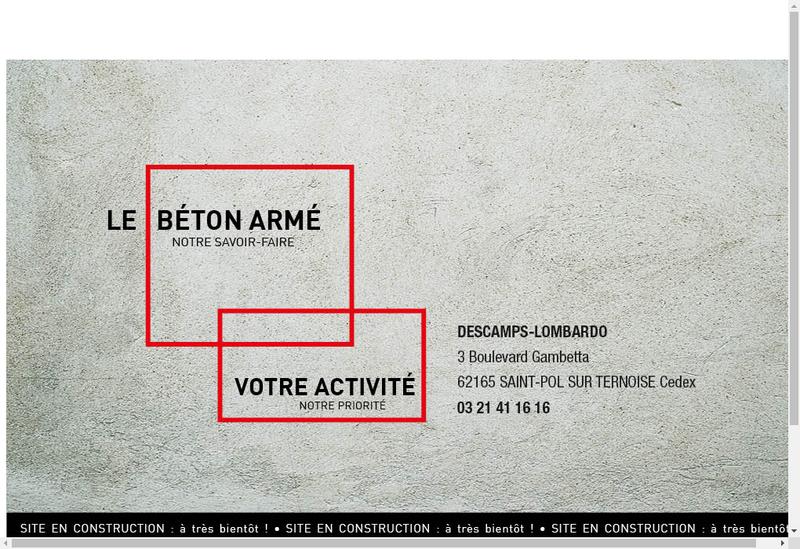 Capture d'écran du site de Descamps Lombardo