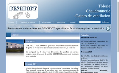 Site internet de SARL Deschodt