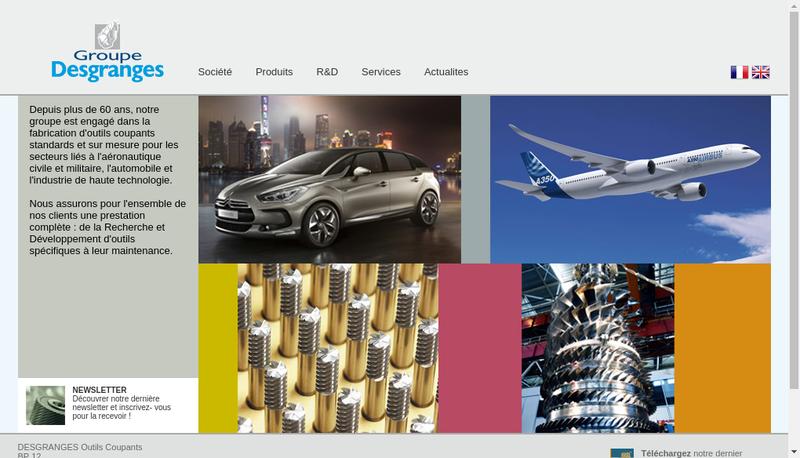 Capture d'écran du site de Desgranges Aero