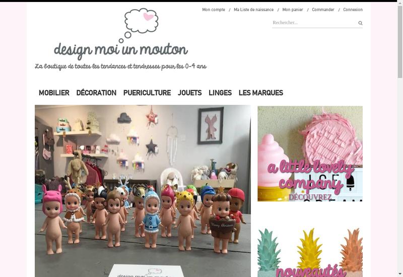 Capture d'écran du site de Design Moi Un Mouton