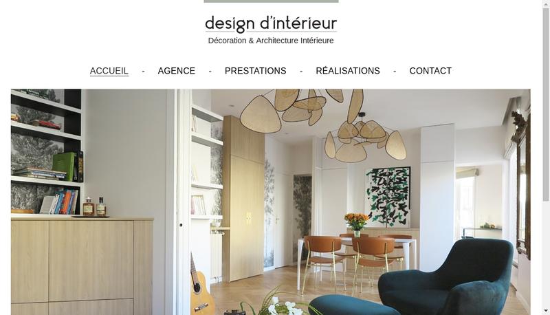 Capture d'écran du site de Interieur Design