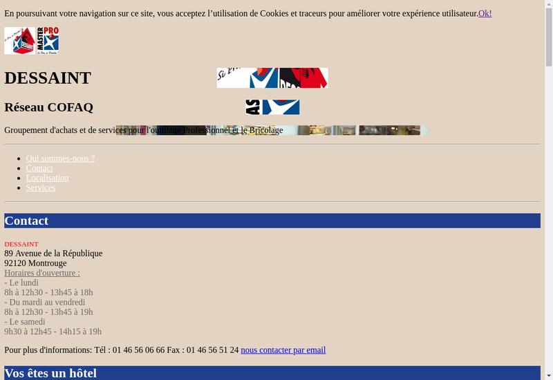 Capture d'écran du site de Etablissements Louis Dessaint