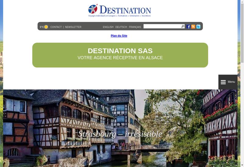 Capture d'écran du site de Destination