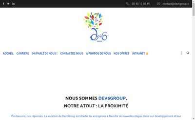 Site internet de Dev6Group