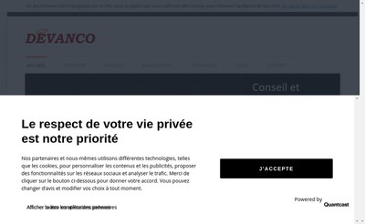 Site internet de Devanco